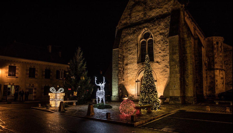 Illuminations de Noël de la commune de Vernou
