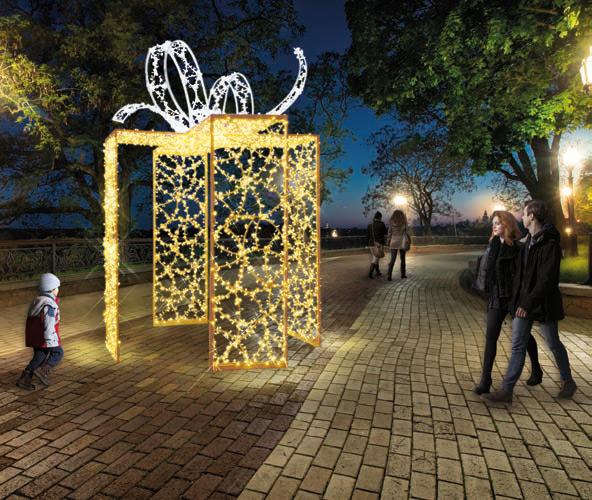 Structure lumineuse géante de Noel pour commune